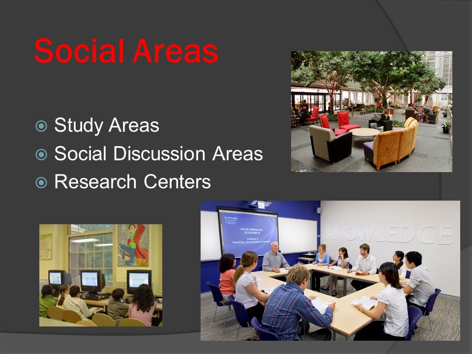 Social Areas Study Areas Social Discussion Areas Research Centers