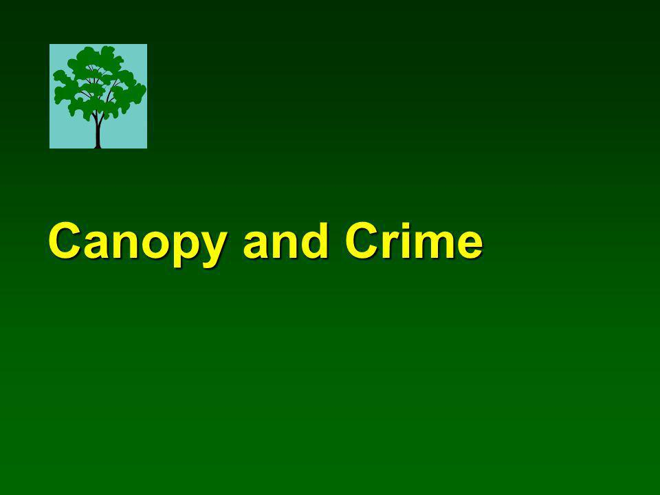 Canopy and Crime Canopy and Crime