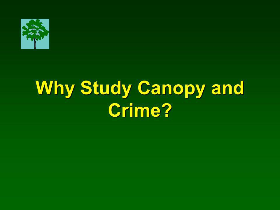 Why Study Canopy and Crime