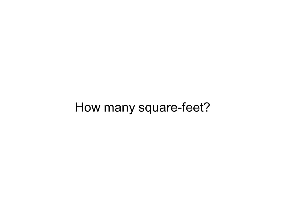 How many square-feet