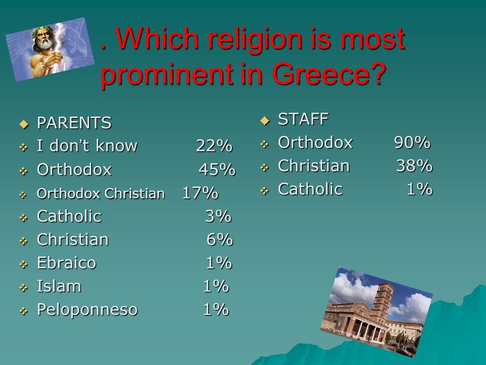 Which religion is most prominent in Greece . Which religion is most prominent in Greece.