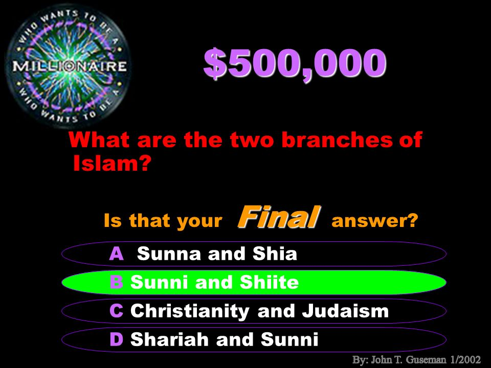 $250,000 What is the book based on Muhammads words and actions called.