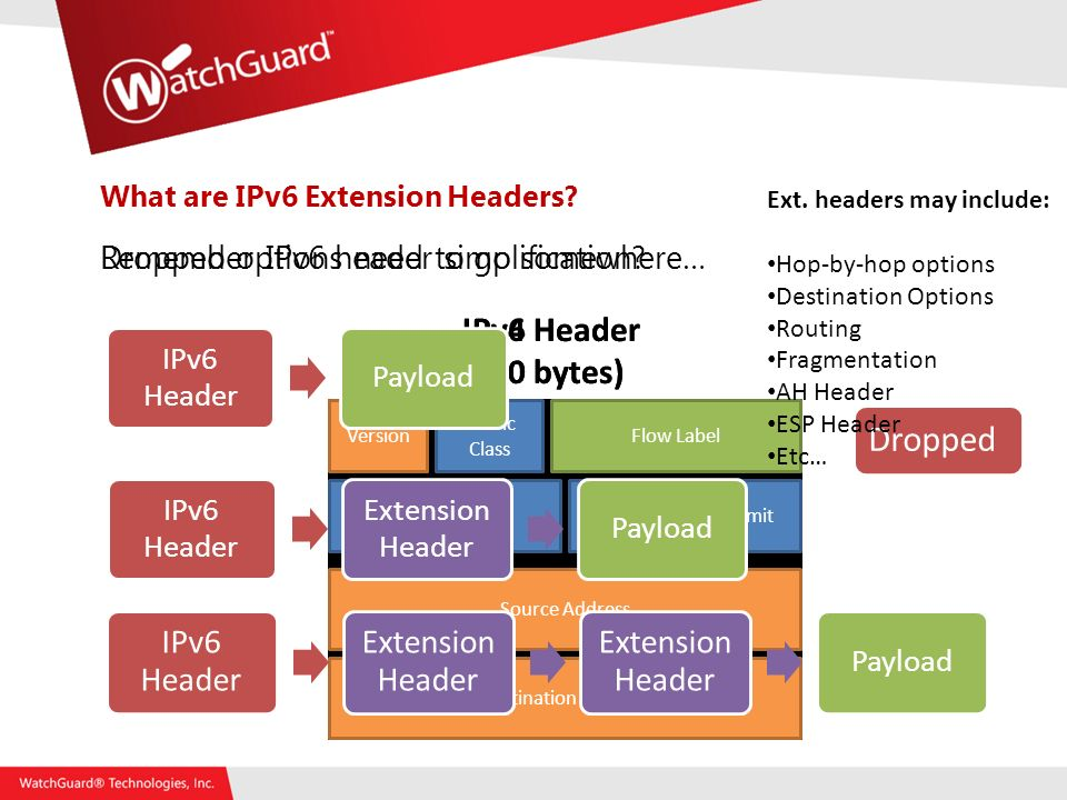 What are IPv6 Extension Headers. Remember IPv6 header simplification.