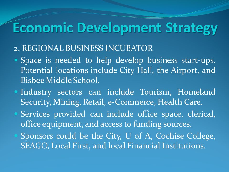 Economic Development Strategy 2.