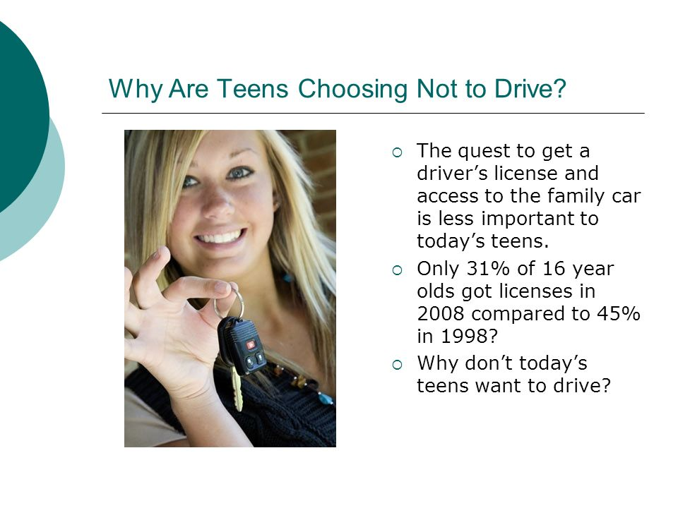 Why Are Teens Choosing Not to Drive.