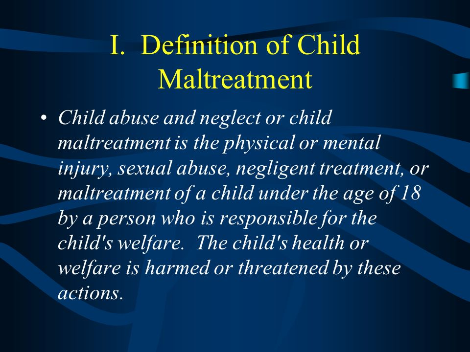 Child Abuse: Definitions