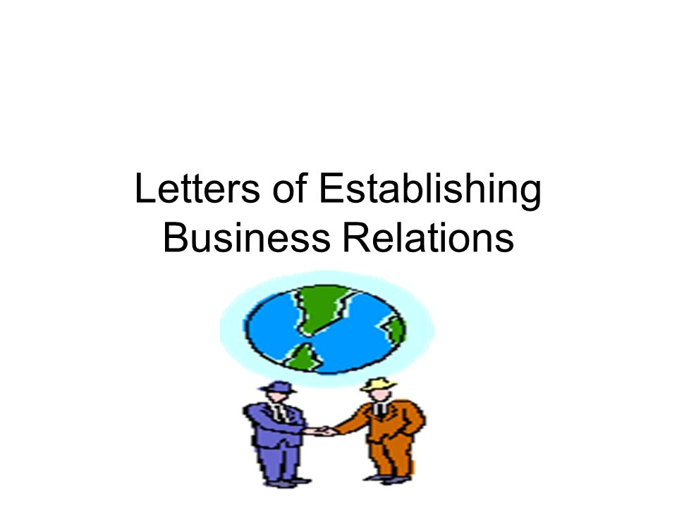 Letters of Establishing Business Relations