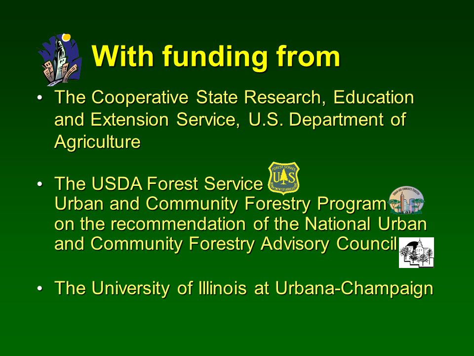With funding from The Cooperative State Research, Education and Extension Service, U.S.