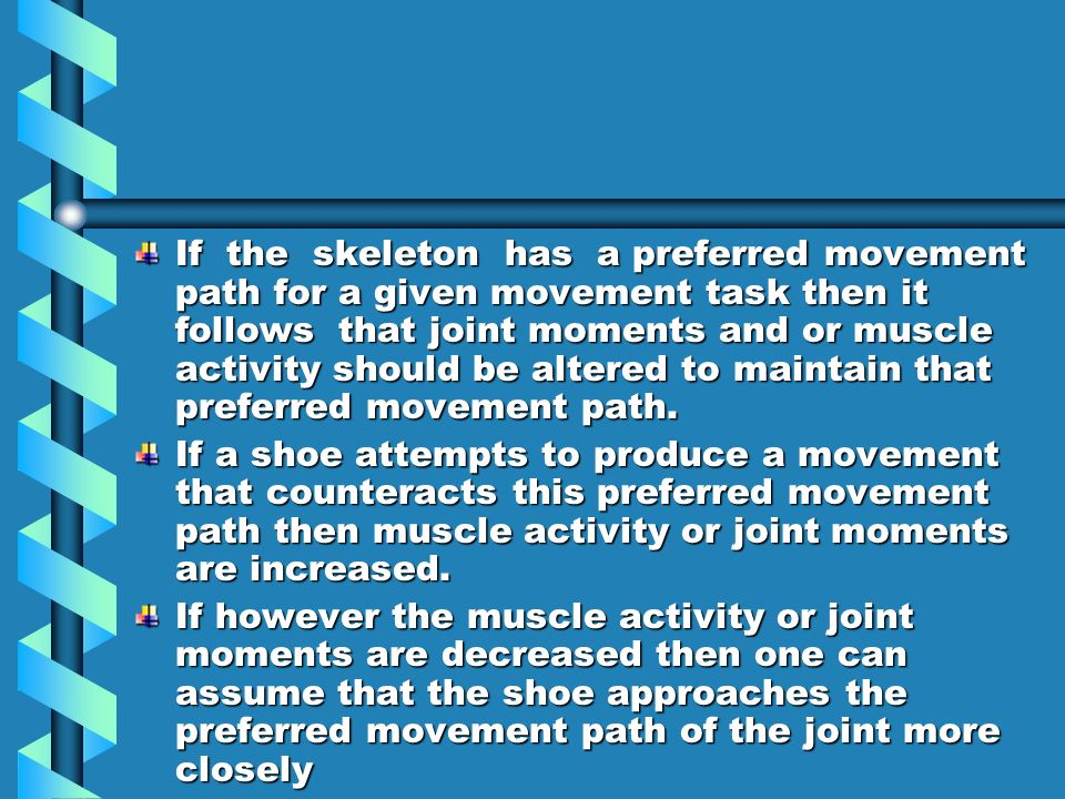 In the restest there was less activation of gluteus medius and more activation of medial gastocnemius,biceps femoris and vastus medialis.