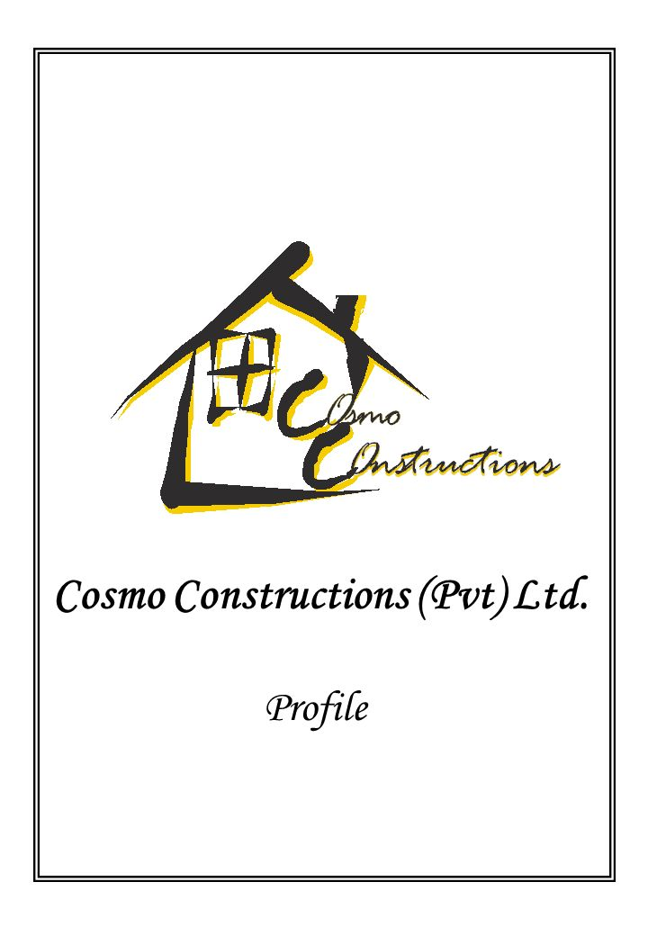 Cosmo Constructions (Pvt) Ltd. Profile