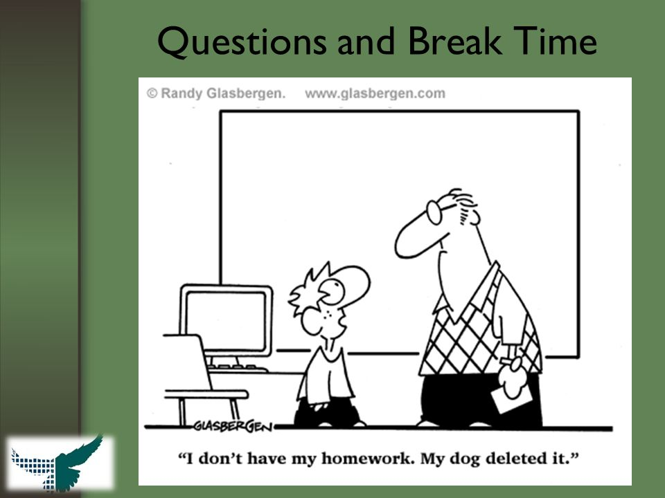 Questions and Break Time