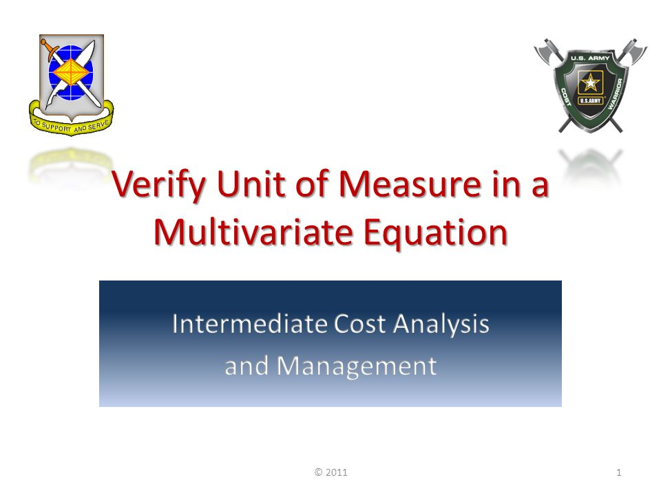 Verify Unit of Measure in a Multivariate Equation © 20111