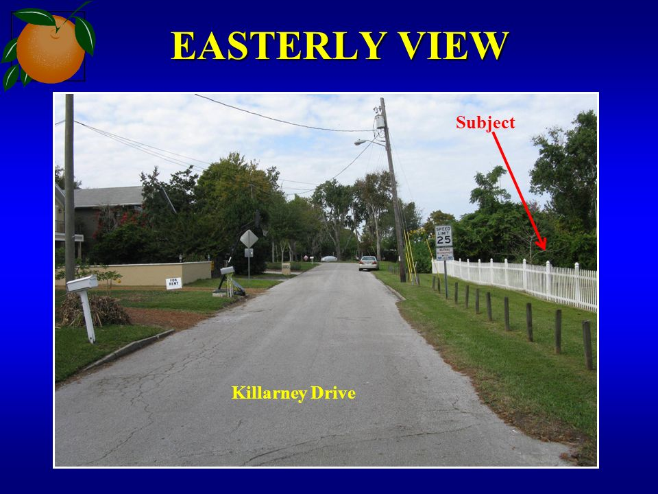 EASTERLY VIEW Killarney Drive Subject