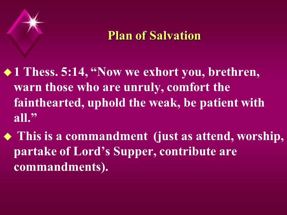 Plan of Salvation u 1 Thess.