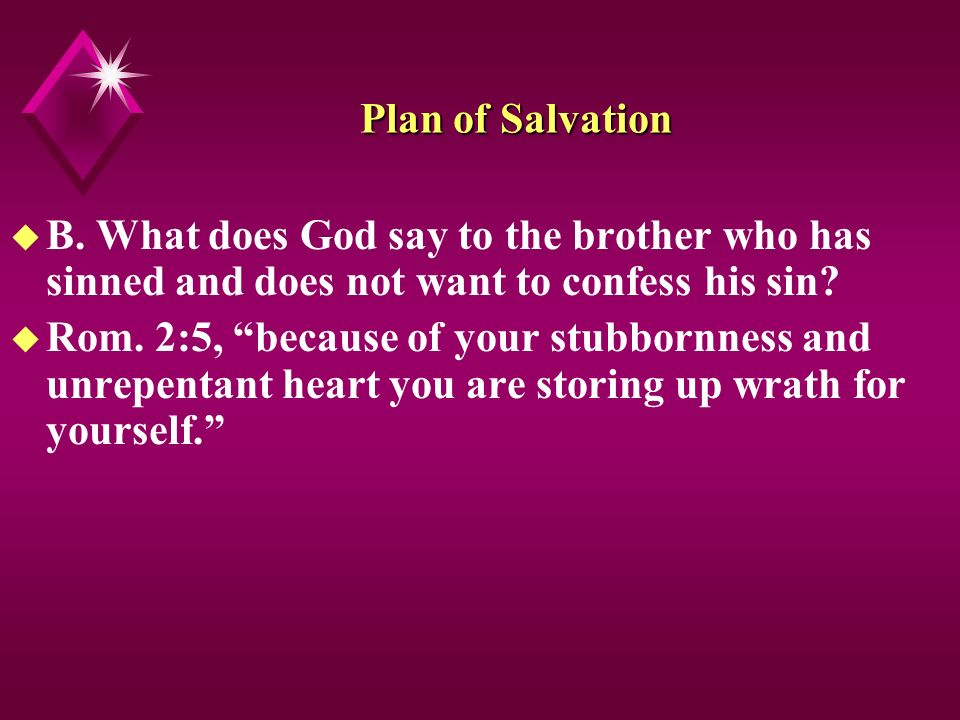 Plan of Salvation u B.
