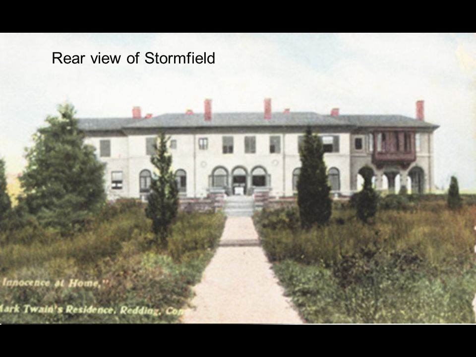 Rear view of Stormfield