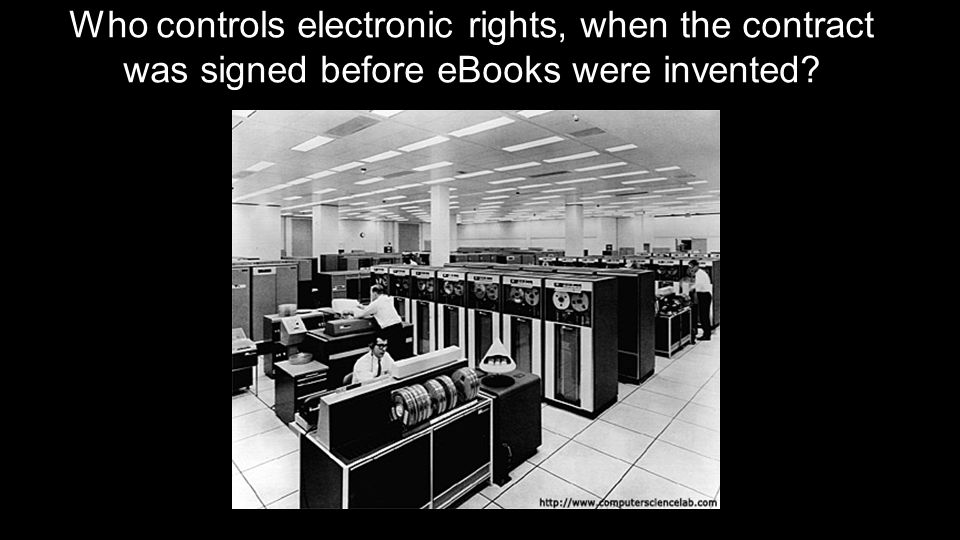 Who controls electronic rights, when the contract was signed before eBooks were invented