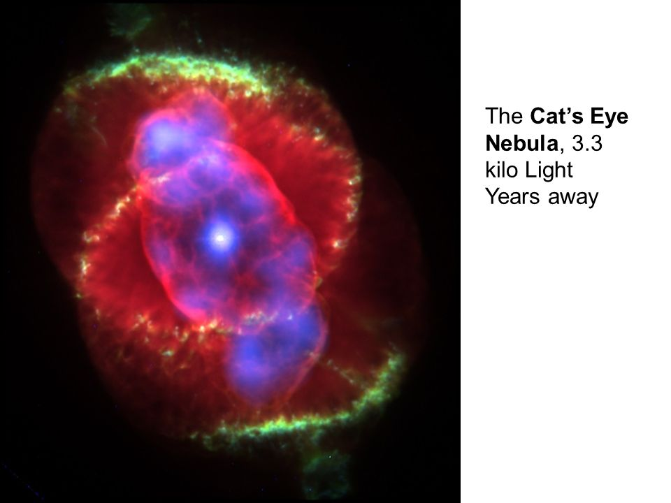 The Cats Eye Nebula, 3.3 kilo Light Years away