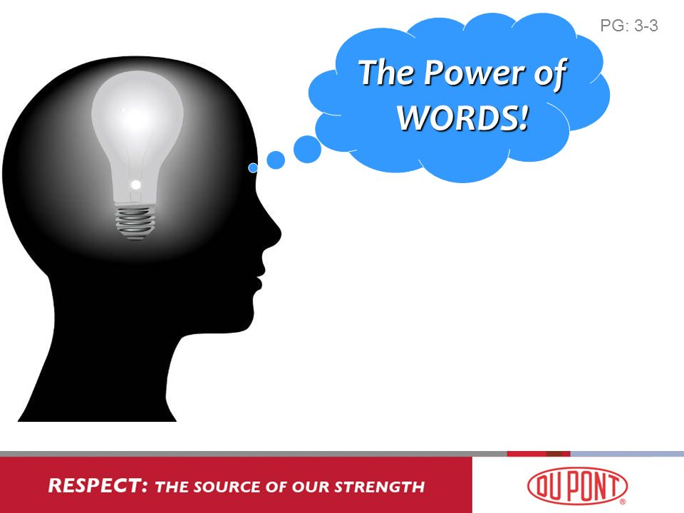 The Power of WORDS! PG: 3-3