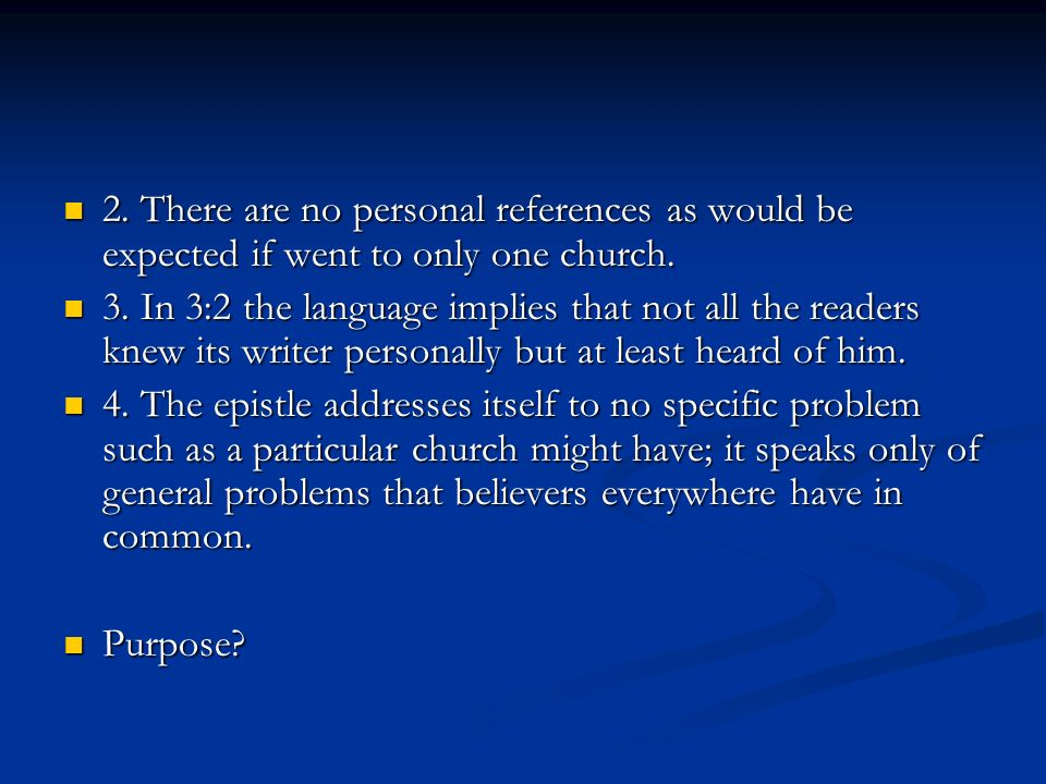 2. There are no personal references as would be expected if went to only one church.