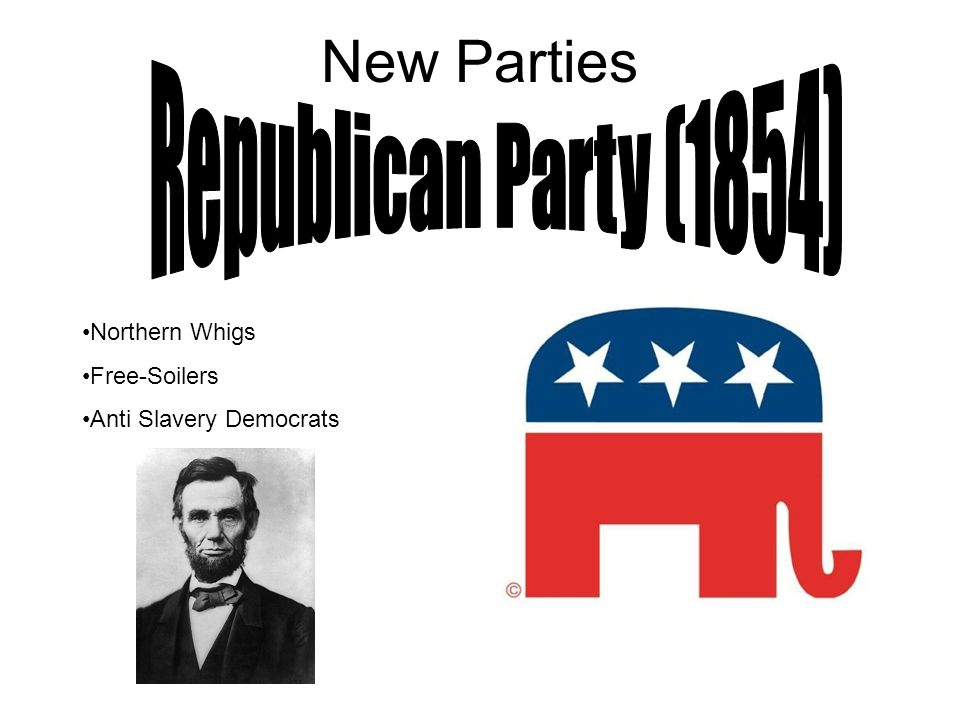 New Parties Northern Whigs Free-Soilers Anti Slavery Democrats