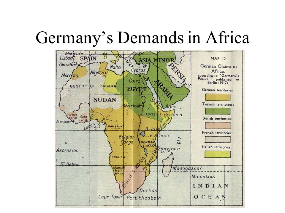 Germanys Demands in Africa