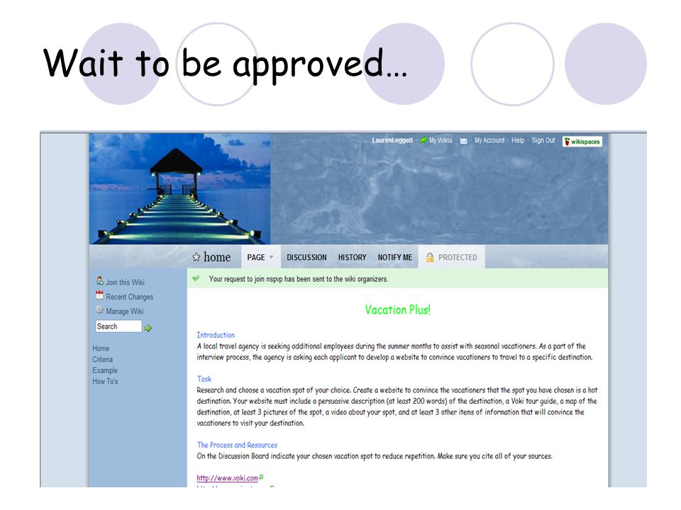 Wait to be approved…