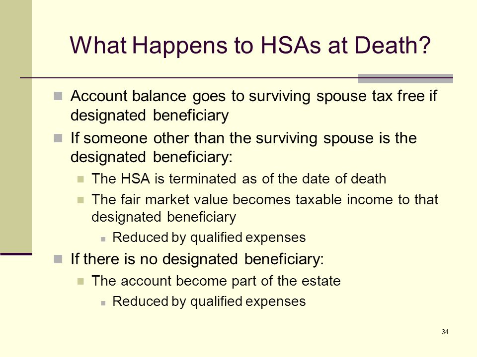34 What Happens to HSAs at Death.
