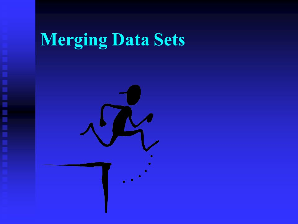 There Are Simply No Effective Routines for Merging Data Sets at Present.