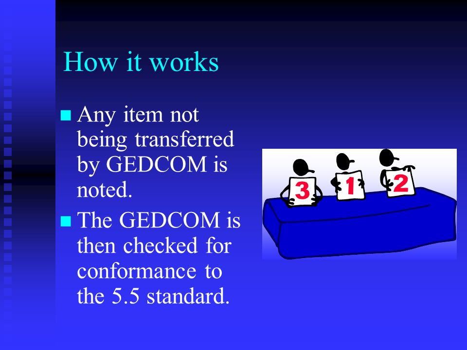 How it works Once data entry is complete, a GEDCOM file is created.