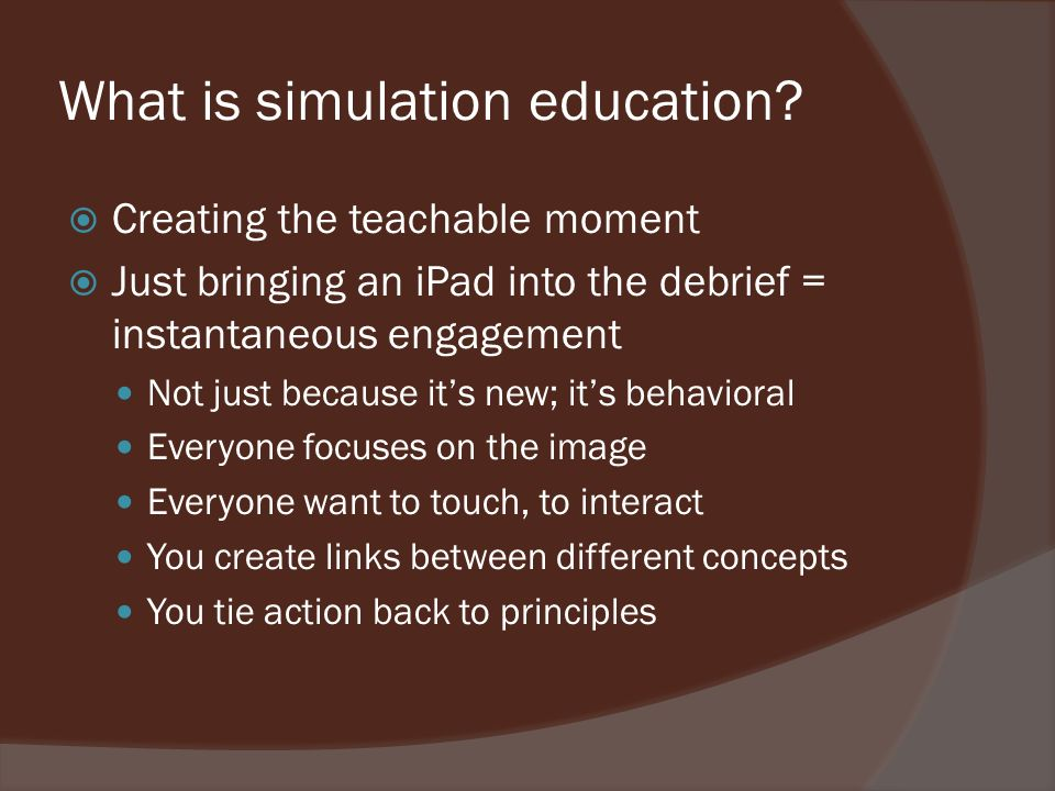What is simulation education.