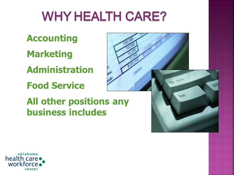 Accounting Marketing Administration Food Service All other positions any business includes