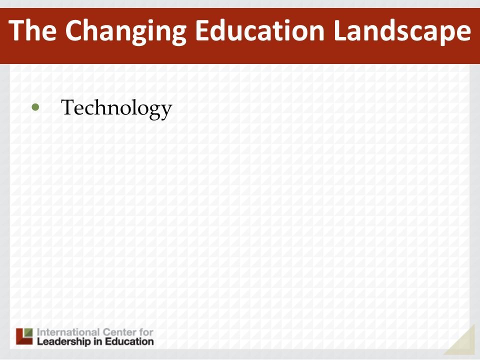 Technology The Changing Education Landscape