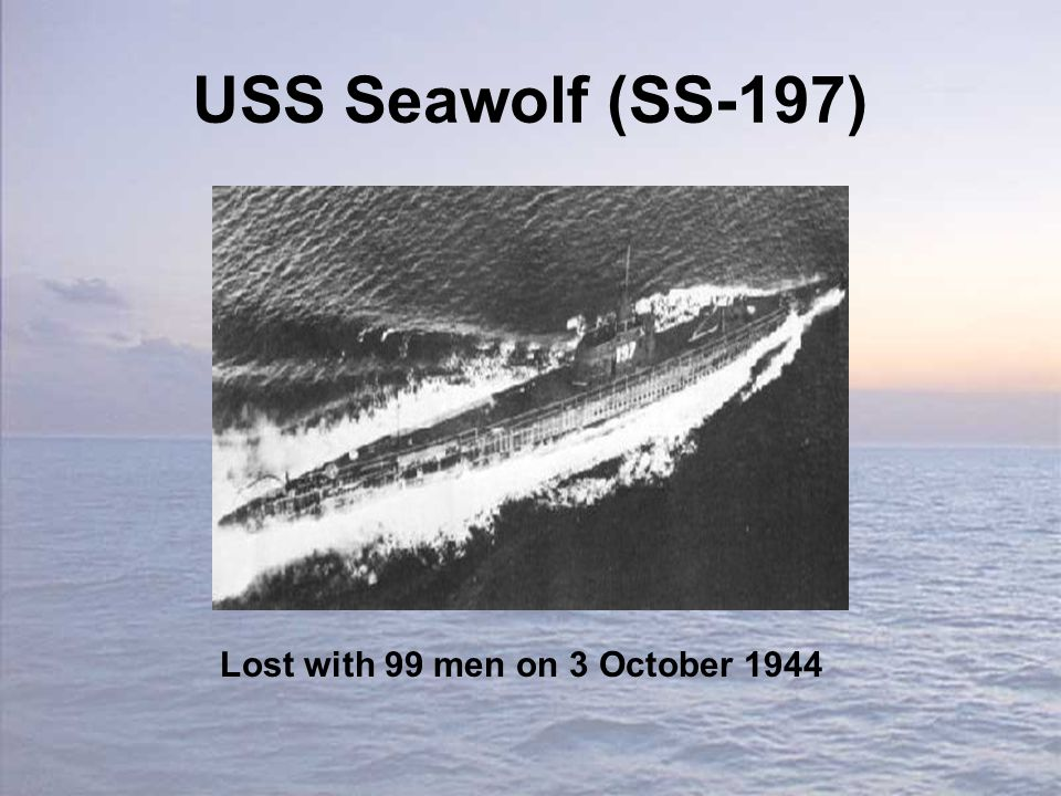 USS Seawolf (SS-197) Lost with 99 men on 3 October 1944