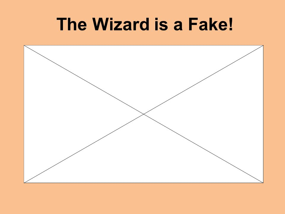 The Wizard is a Fake!