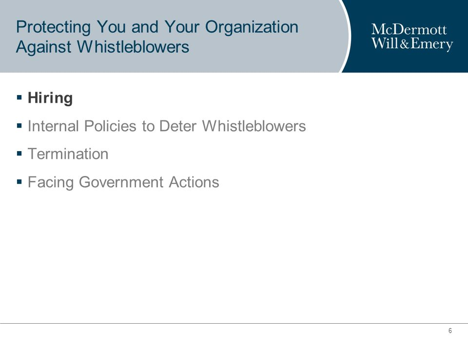 5 5 Top 10 FCPA Enforcement Actions: New Whistleblower Incentives 1.Siemens (Germany): $800 million in 2008.