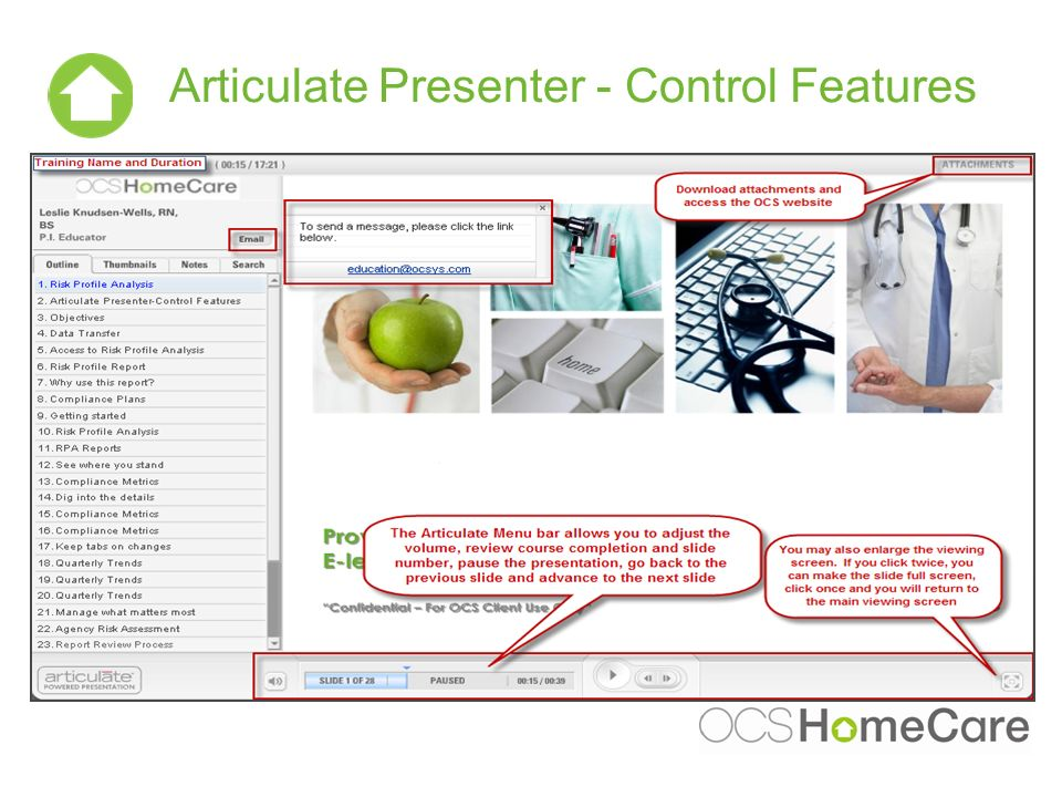 Articulate Presenter - Control Features