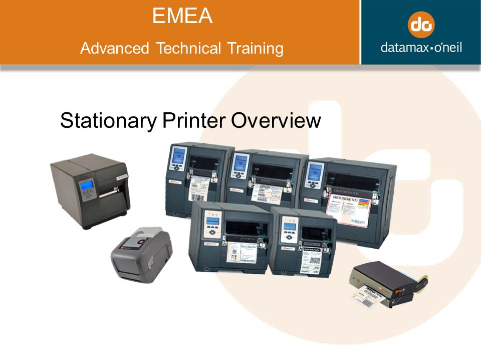 Title EMEA Advanced Technical Training Stationary Printer Overview