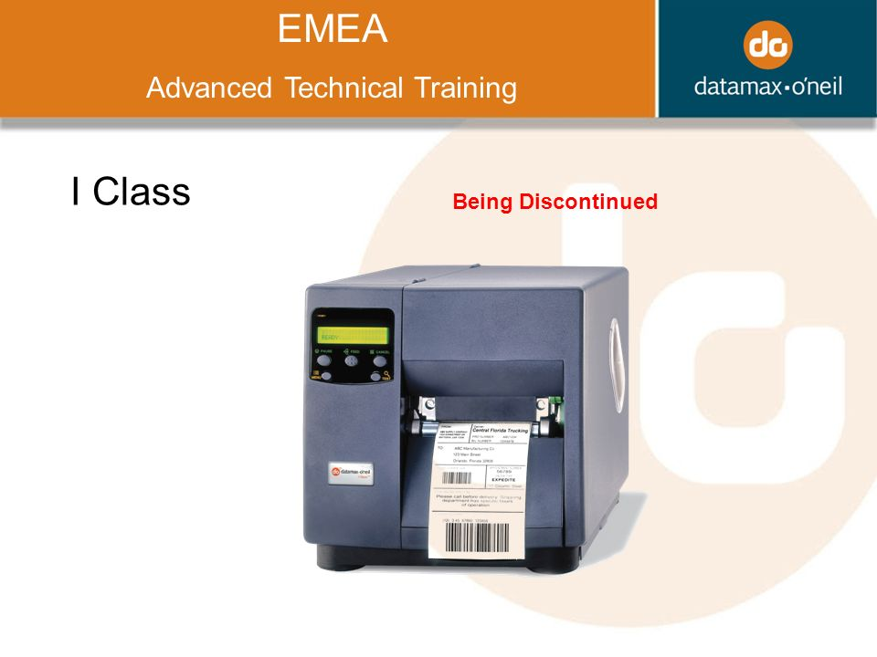 Title EMEA Advanced Technical Training I Class Being Discontinued