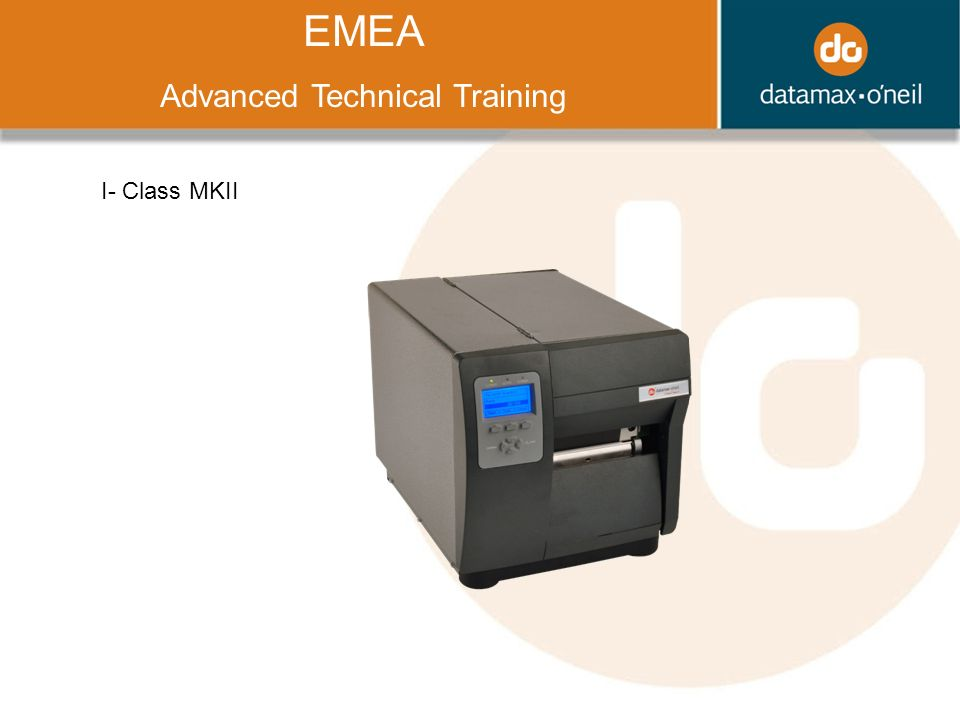 Title EMEA Advanced Technical Training I- Class MKII