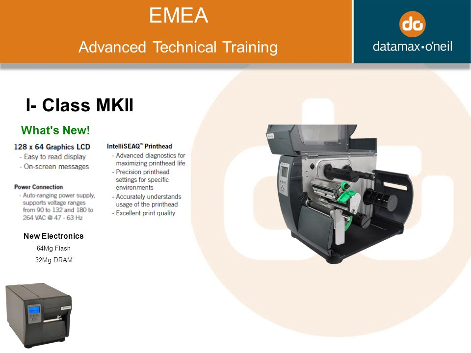 Title EMEA Advanced Technical Training I- Class MKII What s New.