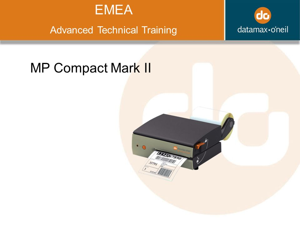 Title EMEA Advanced Technical Training MP Compact Mark II