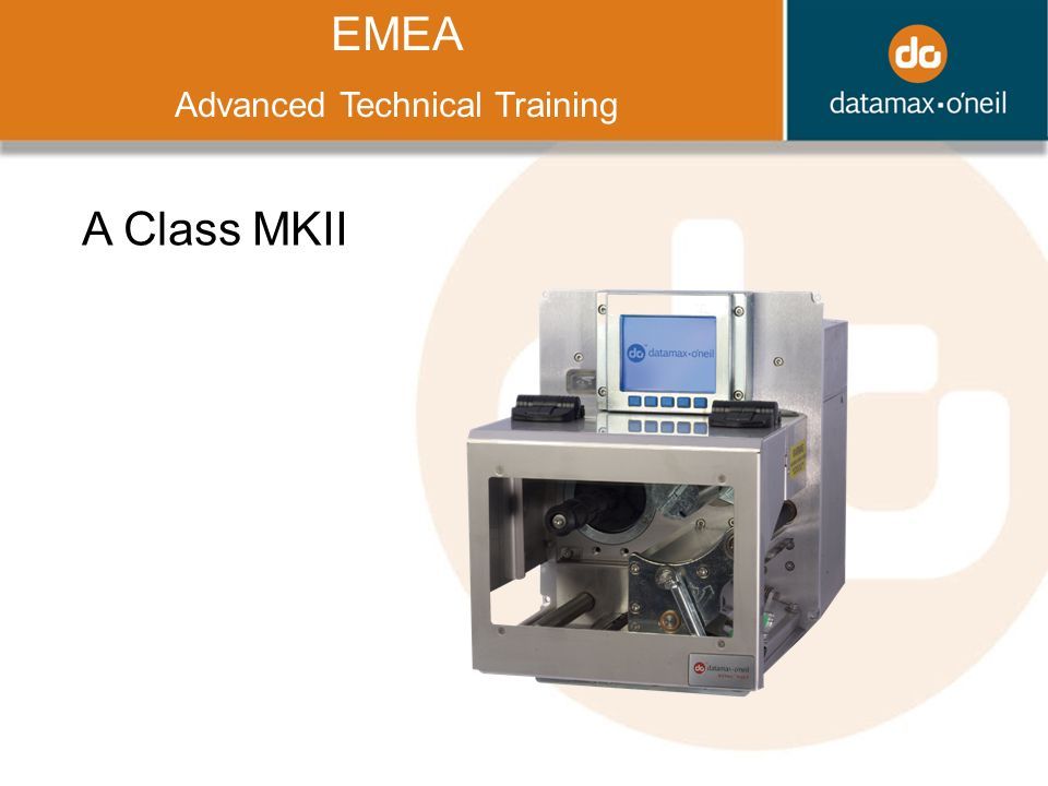 Title EMEA Advanced Technical Training A Class MKII