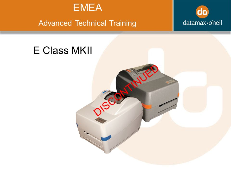 Title EMEA Advanced Technical Training E Class MKII DISCONTINUED