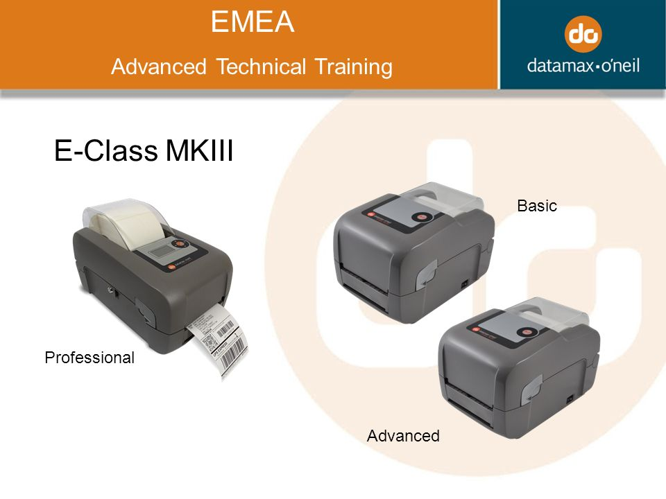 Title EMEA Advanced Technical Training E-Class MKIII Basic Advanced Professional