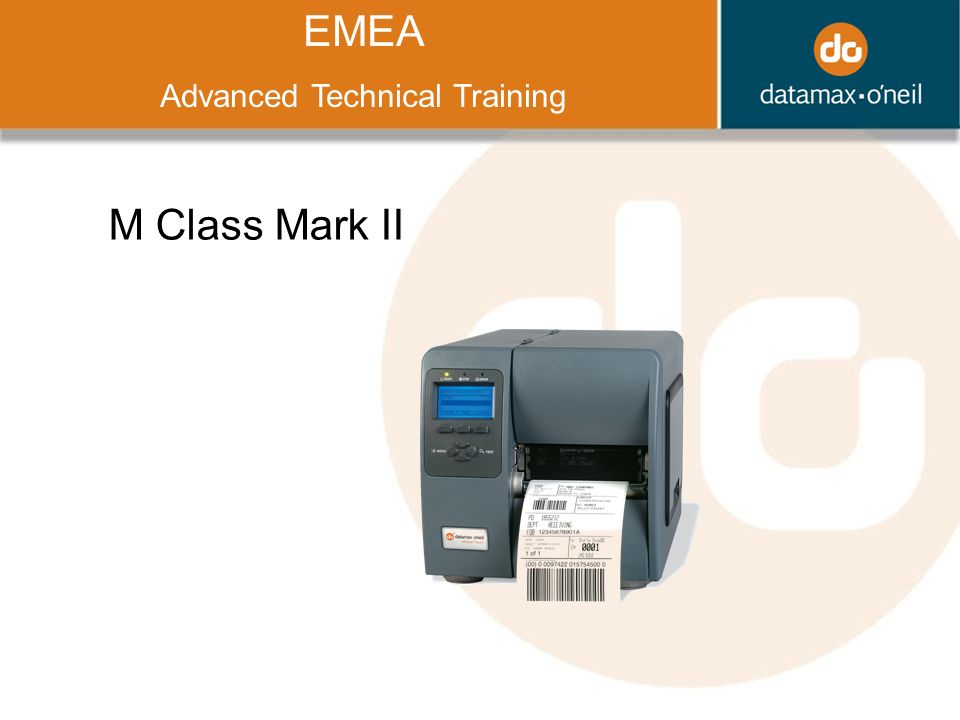Title EMEA Advanced Technical Training M Class Mark II