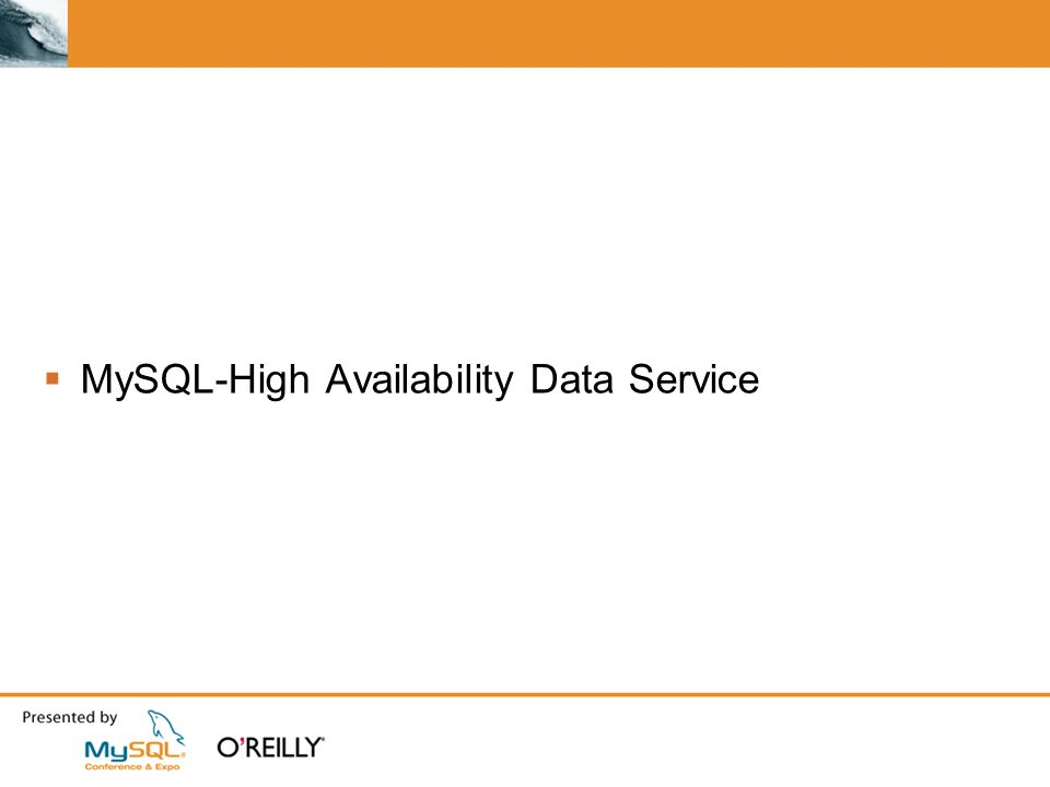 MySQL-High Availability Data Service