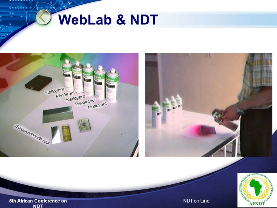5th African Conference on NDT NDT on Line WebLab & NDT