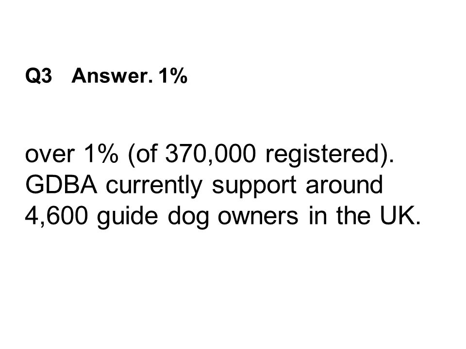 Q3 Answer. 1% over 1% (of 370,000 registered).