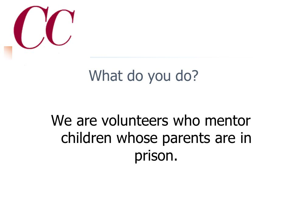 Who are you We are __[name of your program]__, a nonprofit organization.